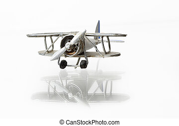 Vintage biplane model - Isolated miniature model of nice...