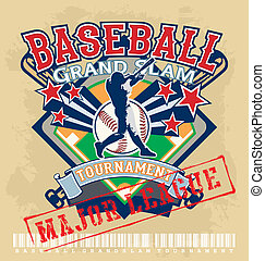 baseball grandslam league brown - vector sport for shirt...