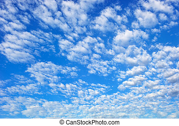 Blue sky with spectacular cloudscape - Picture of blue...