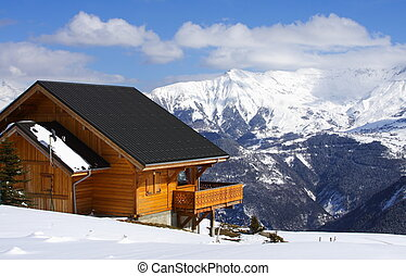 Traditional winter chalet - Traditional wooden chalet in the...