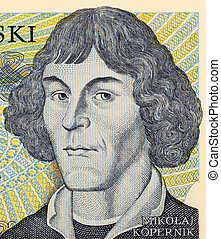 Nicolaus Copernicus on 1000 zlotych 1982 banknote from...