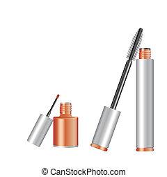 nails and mascara - vector nails mascara woman products