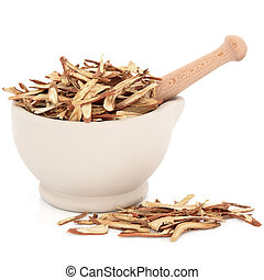 Licorice Root - Chinese herbal medicine of licorice root in...