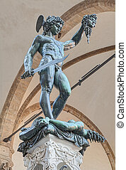 Perseus with the Head of Medusa, the famous bronze statue by...