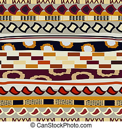 Seamless pattern with ethnic motifs Tribal style