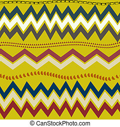 Full color seamless pattern with geometric pattern. Tribal...