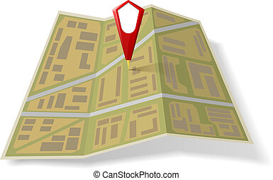 Street Map with red pointer
