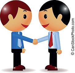 Businessman shake hand - Vector illustration of Businessman...