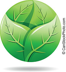 Green eco logo  - Vector illustration of Green eco logo