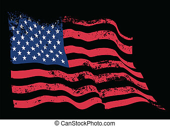 USA flag vector realistic