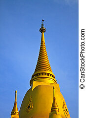 Thai Pagoda is beautiful at Wat Wang Manao, Thailand