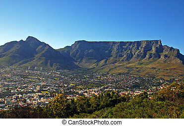 Capetown and Table MountainSouth Africa - general view of...