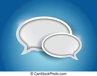 Speech bubble, communication concept