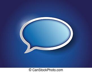 blue Speech bubble, communication concept