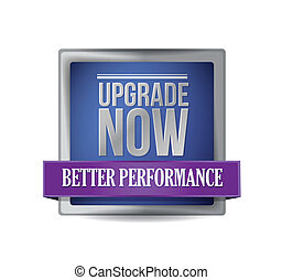 upgrade now blue shield illustration design graphic