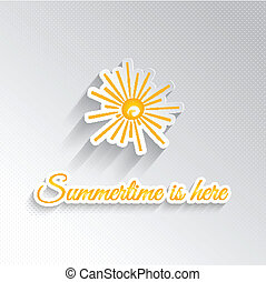 Summer background - Abstract background with a sunshine...