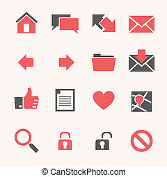Website Icon set - Web and Soft Icon set. Vector EPS10.