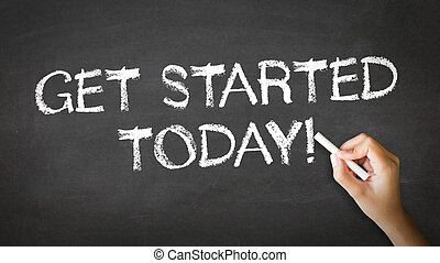 Get Started Today Chalk Illustration - A person drawing and...