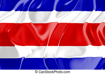 Flag of Costa Rica , national country symbol illustration