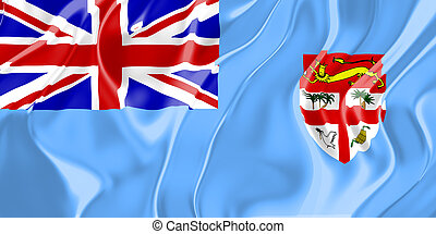Flag of Fiji, national country symbol illustration