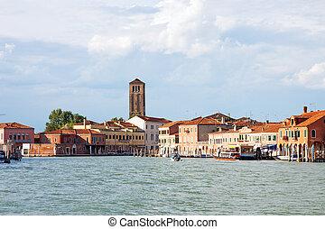Murano Island, Venice - A panoramic view of Murano Island in...