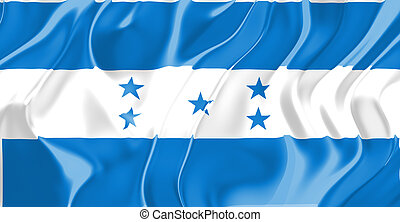 Flag of Honduras, national country symbol illustration