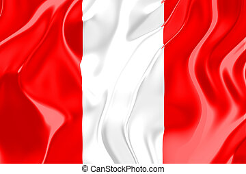 Flag of Peru, national country symbol illustration