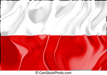 Flag of Poland, national country symbol illustration