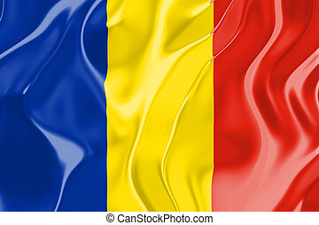 Flag of Romania, national country symbol illustration