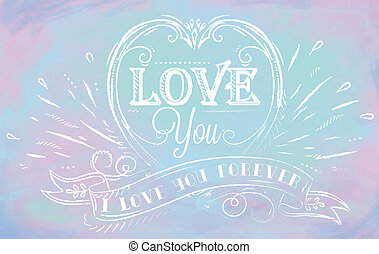 "Lovely card in an openwork style - ""i love you forever"" on a..."