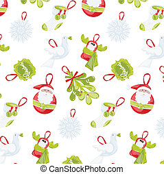 Pattern on Christmas theme