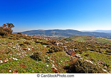 Hills of Galilee - View of the Druze Town from the Hills of...