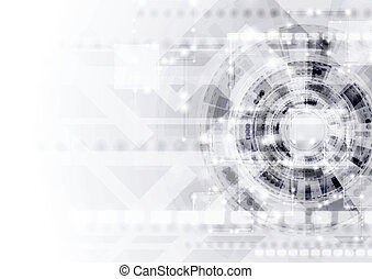 Abstract modern technology vector template - Abstract light...