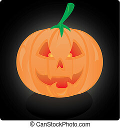 jack o lantern - A vector illustration of a halloween jack o...