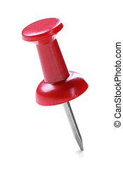 close up of a red pushpin