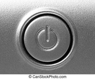 close up of shutdown button - close up of button with...