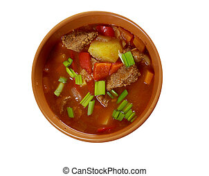 Traditional Bulgarian soup chorba.shurpa soup