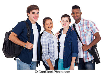 teenage boys and girls - diversity group of teenage boys and...