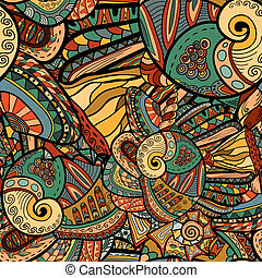 Seamless Abstract Pattern with marine inhabitants - Seamless...
