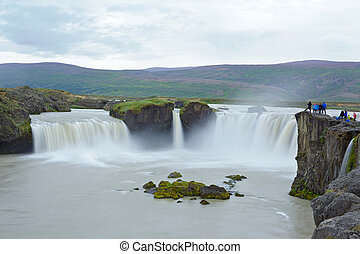 godafoss waterfall - Godafoss, 'Fall of the Gods', one of...