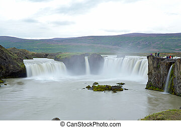 godafoss waterfall - Godafoss, Fall of the Gods, one of the...