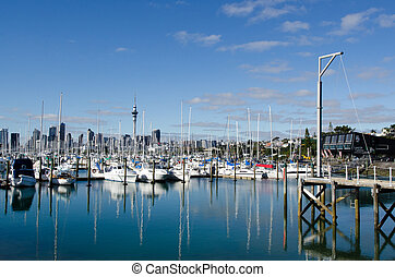 Westhaven Marina - Auckland - AUCKLAND, NZ - JUNE 02:Boats...