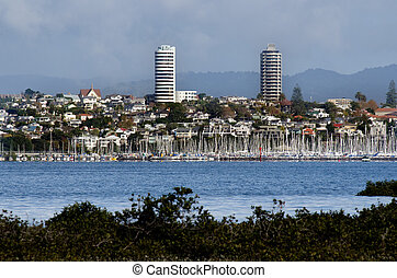 Auckland - Ponsonby - AUCKLAND, NZ - MAY 27:The skyline of...
