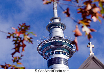 Auckland Sky Tower - AUCKLAND, NZ - MAY 29:Auckland Sky...
