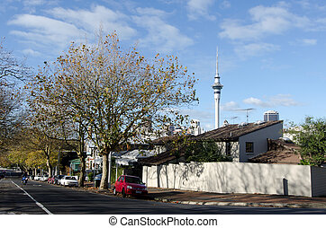 Auckland - Ponsonby - AUCKLAND, NZ - MAY 27:Private homes in...
