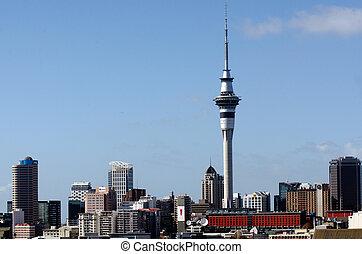 Auckland Sky Tower - AUCKLAND, NZ - MAY 27:Auckland Sky...