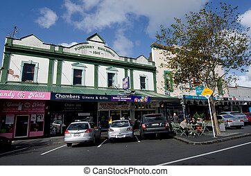 Auckland - Ponsonby - AUCKLAND, NZ - MAY 27:Old buildings...