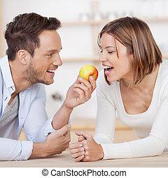 par, maçã