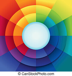 Vector abstract background in rainbow colours with copy...