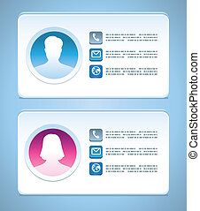 Vector visit card templates - Vector visit card template...
